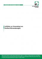 BF Merkblatt Leitfaden zur Verwendung von Dreifach-Wärmedämmglas