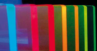 Plexiglas fluoreszierend
