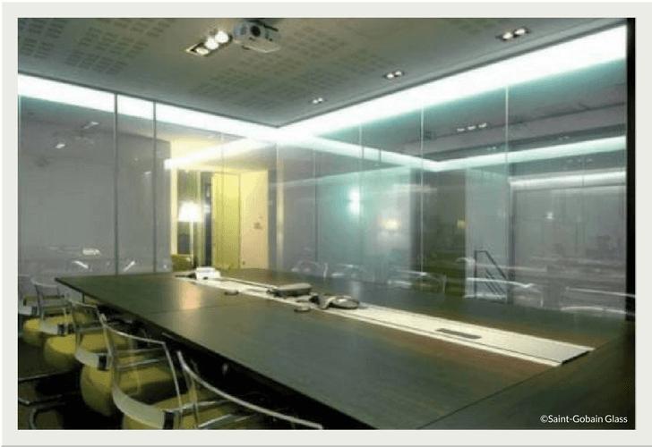 Schaltbares Glas: Durchblick auf Knopfdruck