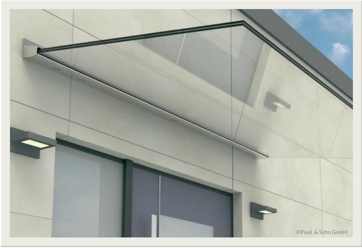 Elegantes freitragendes Vordachsystem