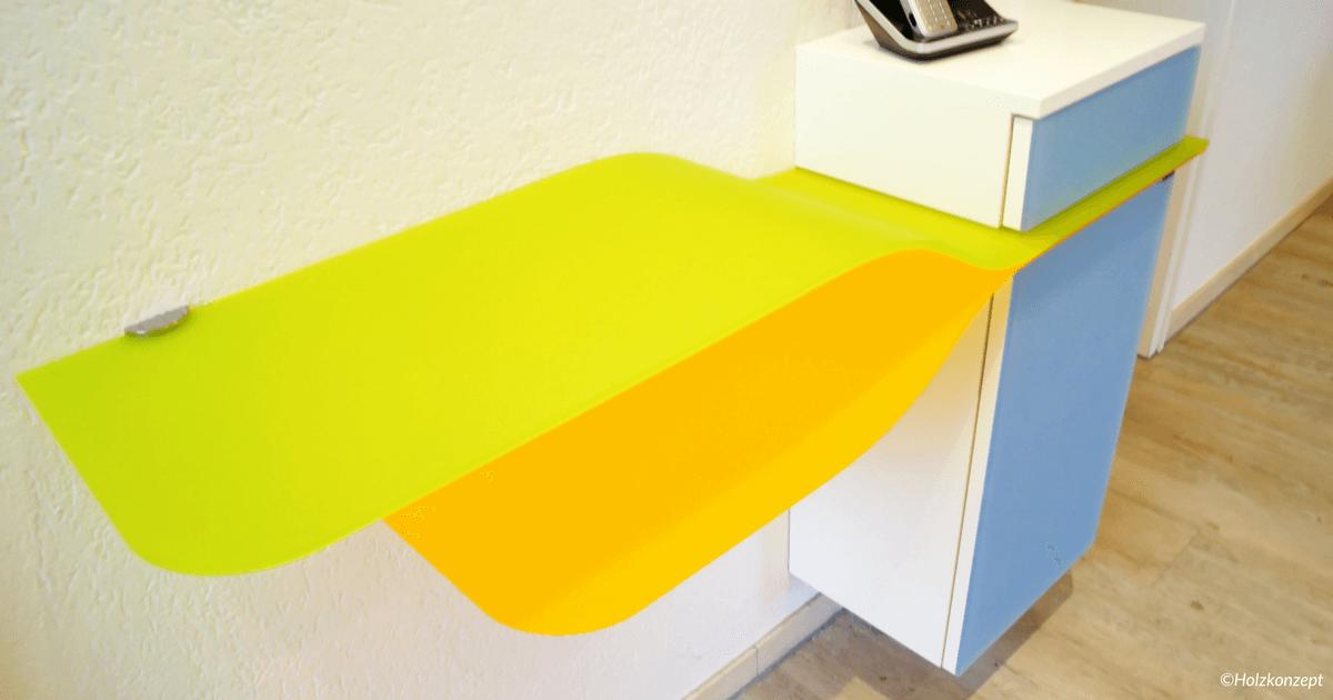 Plexiglasmöbel - Ablage aus Plexiglas Satinice